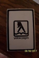 Yellow Pages Souvenir Playing Cards