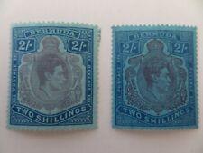 BERMUDA 1938 SG116c&d 2/- MINT CV£28