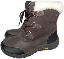 UGG Australia Hiking Vibram Ankle Boots Loops Lace Up Short Wedge Booties 9