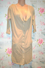 DESIGNER GOSSIP BEIGE JERSEY SHIRT BEACH COVER UP DRESS BNWT RRP £49 UK 10 /42