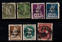 German Empire 1920-21 Used 80% overprinted culture, work