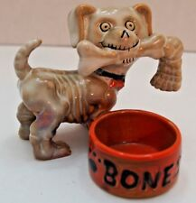 Yankee Candle Boney Bunch 2011 Boney Dog w/ Bone in Mouth