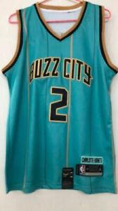S Charlotte Hornets #15 Kemba Walker Purple Basketball Jersey Size XXL