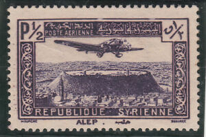 Syria 1937. 1/2p Airmail. Airplane. Dark violet. Used