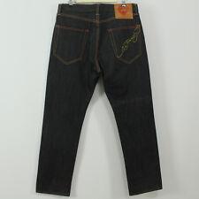 Ed Hardy by Christian Audigier Black Stretch Denim Jeans Men's Tag Size 34 x 32
