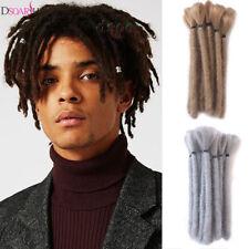 "15Pcs 6"" Men Short Synthetic Dreadlocks Twist Crochet Braiding Hair Extensions"