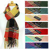 Plaid Classic Scarf 100% Cashmere Made Scotland Winter For Men And Women Wool