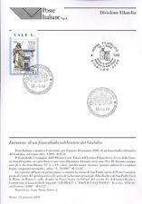 ITALIA 2000 CELEBRAZIONE GIUBILEO  BOLLETTINO COMPLETO DI FRANCOBOLLI FDC