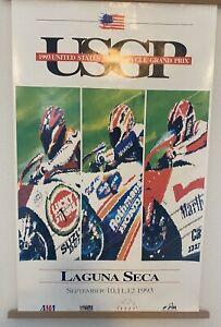Moto GP Event Poster 1993 US Grand Prix Laguna Seca