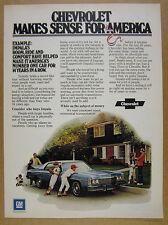 1974 Chevrolet Chevy IMPALA Sedan blue car photo vintage print Ad
