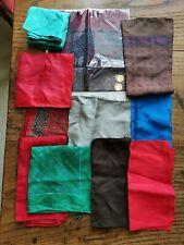 11 Silk Pocket Handkerchiefs