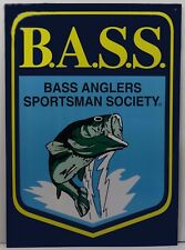 Bass Anglers Sportsman Society Fishing Fish Metal Sign