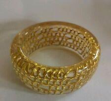 Vintage embedded lucite bracelet bangle