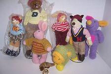 Mixed lot of 8 Naito Design Plush Bears & Animals, Japan