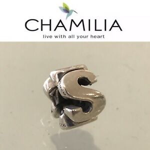 Chamilia Sterling Silver Charm Bead Initial S