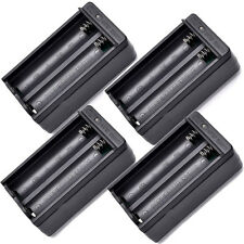 4pcs 18650 Dual Slot Wall Charger US Plug for 3.7V Rechargeable Li-ion Battery