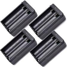 4pcs 18650 Dual Slot Wall Charger US Plug for 3.7V Rechargeable Li-ion Batt