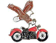 USA Eagle Classic Custom Bike Motorcycle Indian Motorbike Metal Enamel Badge New