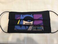 😷ADULT HANDMADE BAT MAN JUSTICE LEAGUE DC HERO FACE MASK W/FILTER 1 SZ