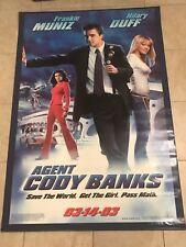 AGENT CODY BANKS 47.5X71 VINYL MOVIE BANNER Hilary Duff Frankie Muniz