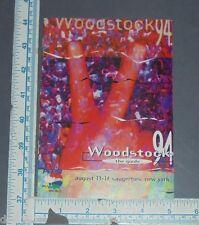 Woodstock Vintage Tour Guide Program Map Original 1994 94 Ny Bob Dylan Csn