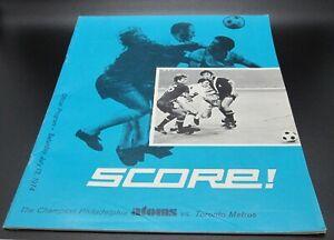 1974 NASL North American Soccer Philadelphia Atoms Vs. Toronto Metros Program