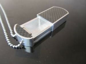 DogTagPillBox Aluminum with Genuine Carbon Fiber Only 100 Produced Limited #'s !