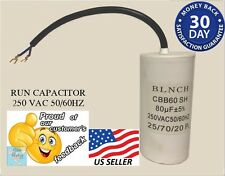 Motor Start Run Capacitor 80uF MFD 250 VAC Cylindric Round 50/60hz CBB60 Quality