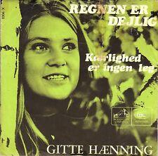 """7"""" Gitte – Regnen Er Dejlig // Denmark 1967"""