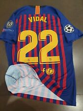 Match Un Worn Shirt ARTURO VIDAL FC Barcelona 2018/2019 Champions League