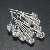 Lots 200PCS 2pin 5mm super bright white straw hat LED diode lamp lights handwork