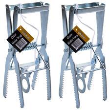 2 x Mole Claw Scissor Trap Heavy Duty Repellent Catch Professional Pest Control