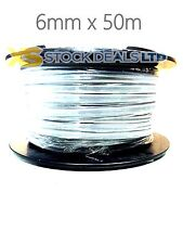 6mm Twin And Earth Cable Wire T&E 50m Metre Shower 6mm Cooker 6242Y
