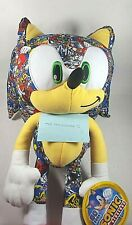 "NEW Sonic ""sticker bomb"" Plush 18"" Stuffed Animal Soft Doll Toy Factory Sega"
