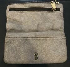 FOSSIL TAB BIFOLD CHAMPAGNE Tan Sparkle Organizer Wallet