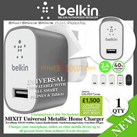 Belkin MIXIT Metallic Universal Home Charger 2.4Amp for Smartphone, Tablets