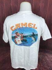 Vintage 90s CAMEL CIGARETTES JOE'S TACKLE SHOP FISHING POCKET T-Shirt Size XL