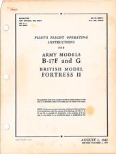WWII WW2 Boeing B-17 F/G Flying Fortress Pilot Handbook Aircraft Manual CD COPY