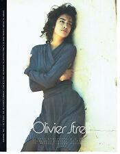 Publicité Advertising 088  1990   Olivier Strelli  mode pret à porter