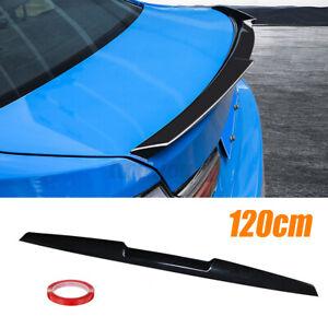 Universal Car Rear Trunk Roof Lip Spoiler Tail Trunk Wing Sticker PU Gloss Black