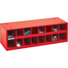 CTB16 Clarke 16 Pigeon Hole Section Stackable Parts Cabinet Tool/Parts rrp £59!!