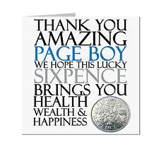 Lucky Sixpence Wedding Keepsake Gift for Page Boy with gift bag UK FREE POST