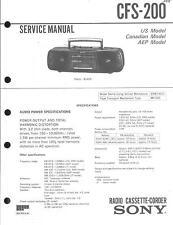 Sony Original Service Manual für CFS-200