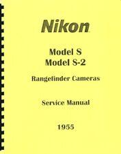 Nikon S & S2 Rangefinder Cameras Service & Repair Manual (1955) Reprint