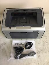 HP P1006 WORKGROUP LASER PRINTER W/TONER, USB CABLE, POWER CORD 30 DAY WARRANTY