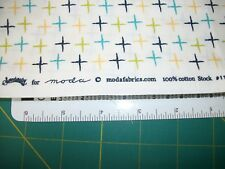 GEOMETRIC  PATTERN 100% COTTON FABRIC PIECES APPROX 2 YDS see description