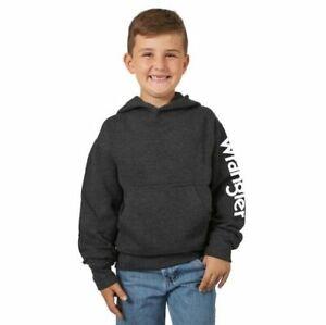 Boy's Wrangler® Logo Heather Charcoal Hoodie BH4306H