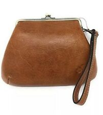 Patricia Nash Savena Leather Tan Kiss Lock Clutch Wristlet Bag Style P24101 NWT