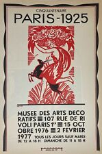 Bonfils Robert affiche originale lithographie 1976 Musée des Arts Décoratifs