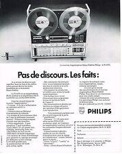 PUBLICITE   1972    PHILIPS  magnétophone